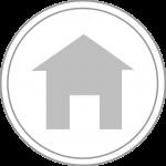 Runder Button mit Haussymbol
